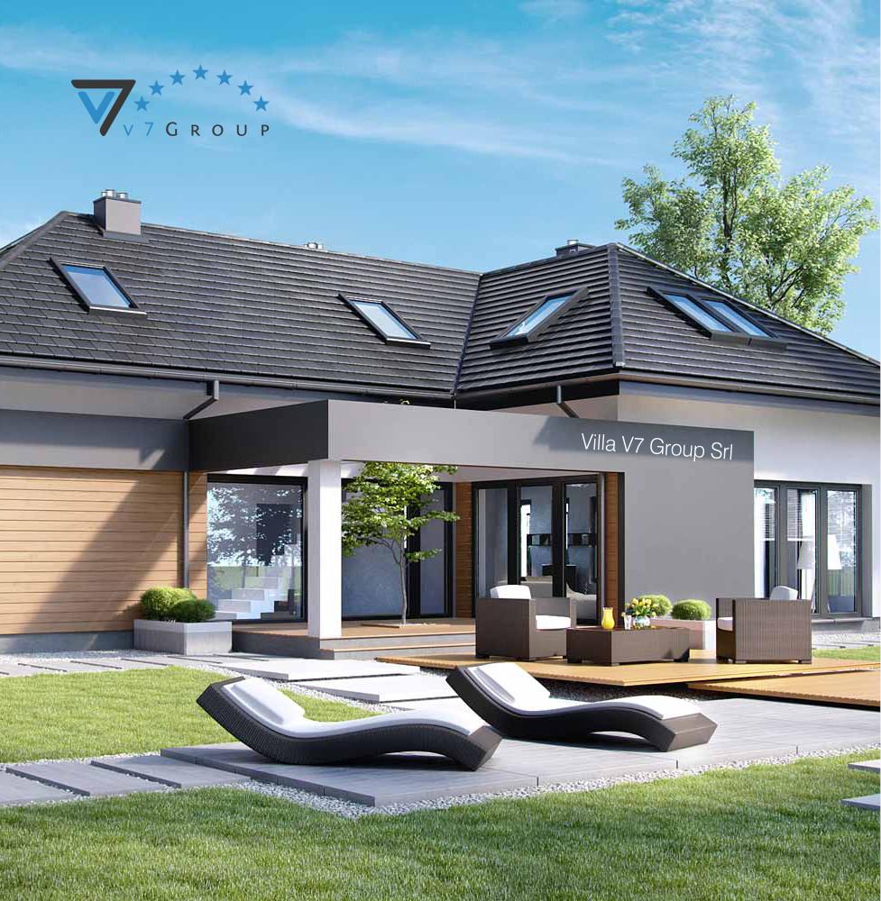 VM Immagine Villa V15 - la vista giardino della villa