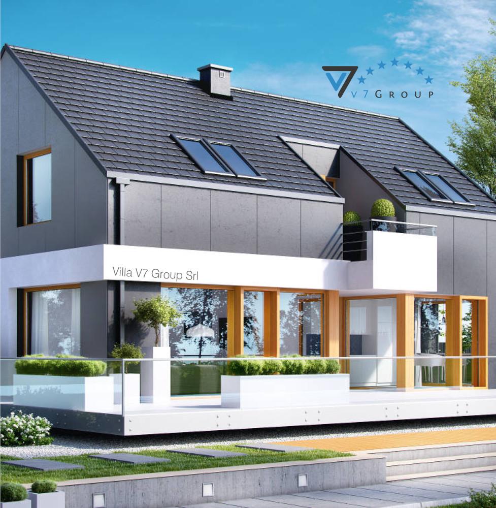 VM Immagine Villa V3 - la parte frontale della villa