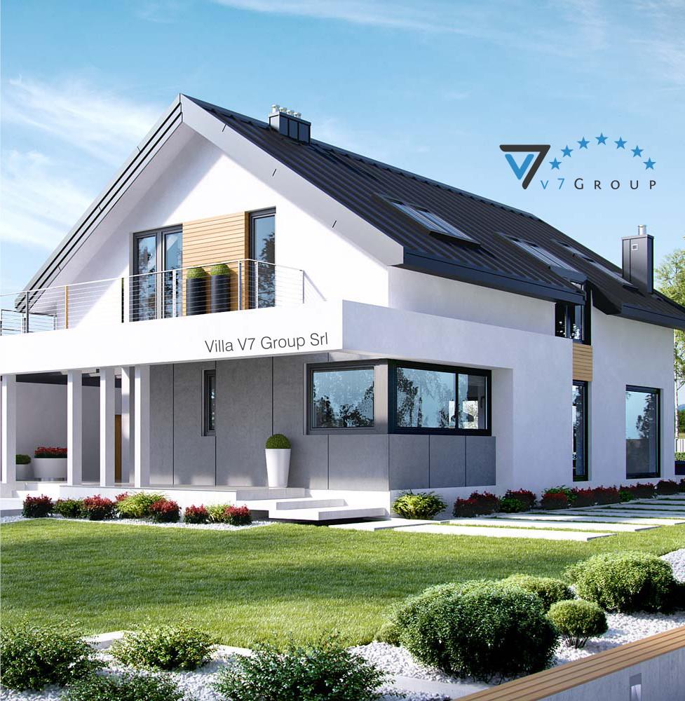 VM Immagine Villa V2 ENERGO - la parte frontale della villa