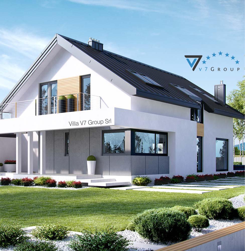 VM Immagine Villa V2 (G2) ENERGO - la parte frontale della villa