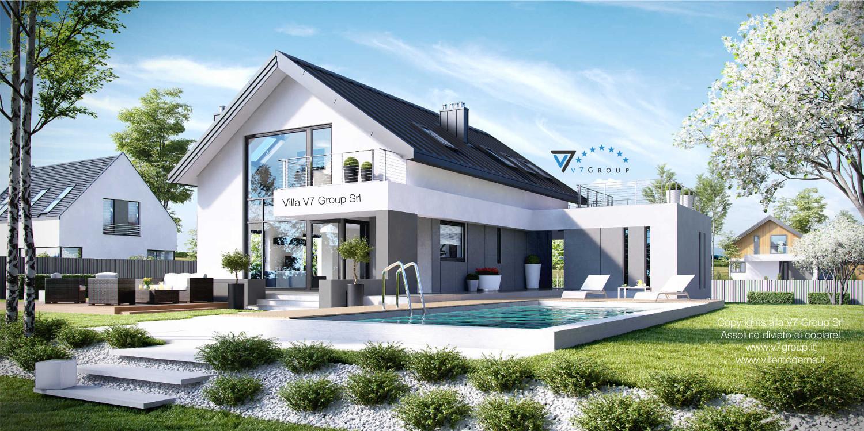 VM Immagine Villa V2 - vista piscina grande