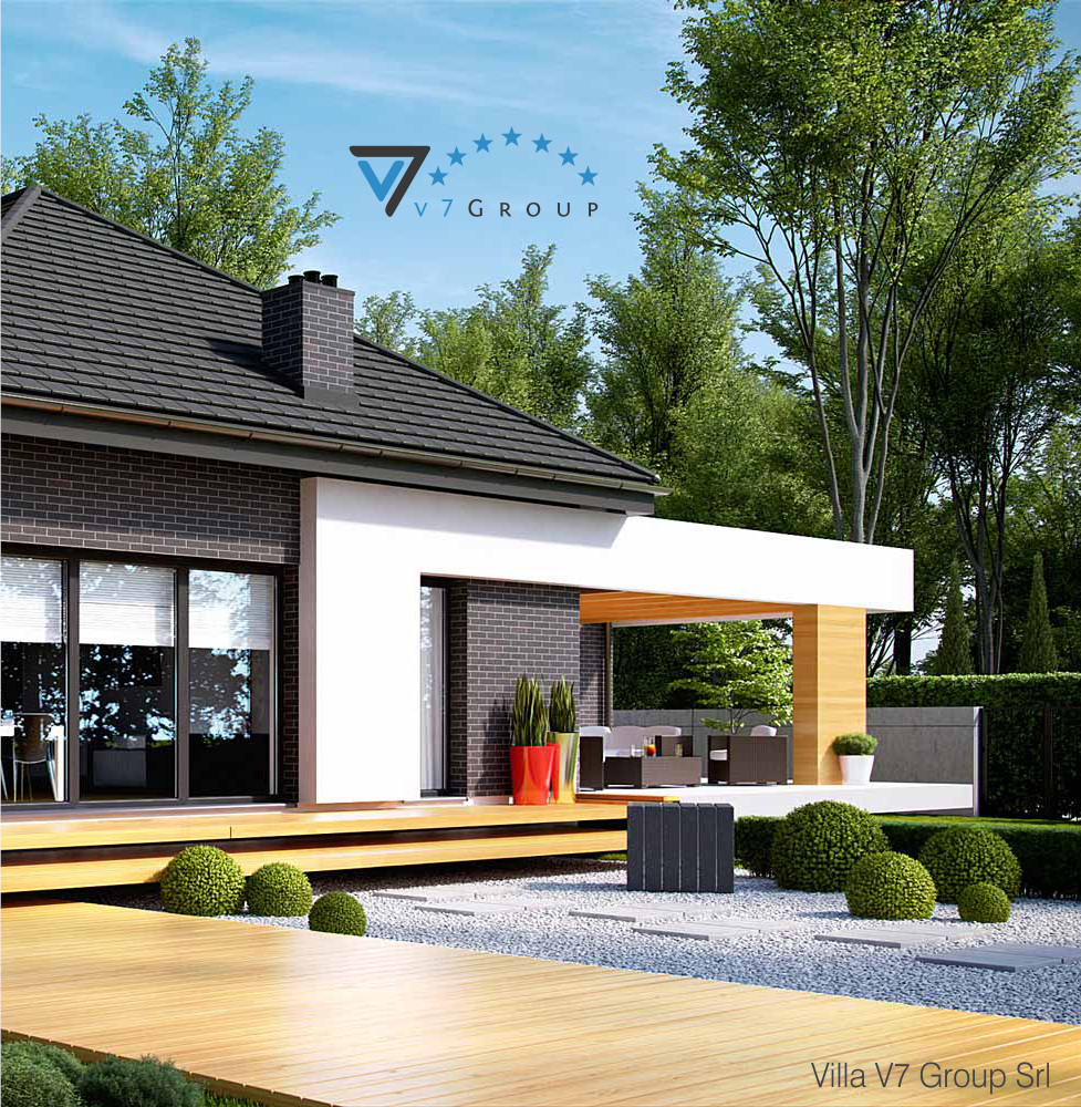 Villa v27 progetto originale la casa in stile moderno for Esterno casa moderna