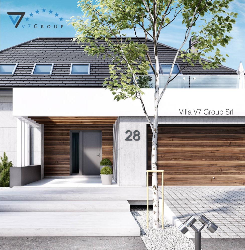 VM Immagine Villa V28 - la vista frontale della villa