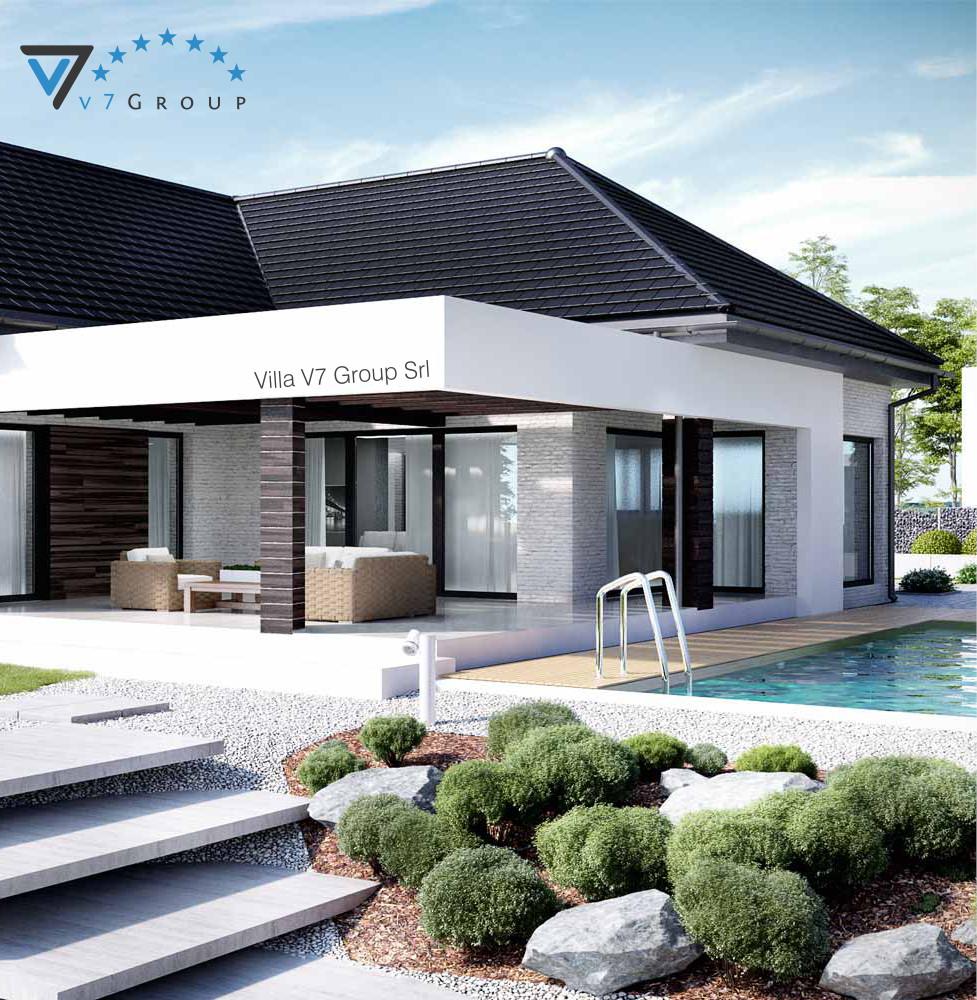 Villa v32 progetto originale la casa in stile moderno for Modelli di case moderne