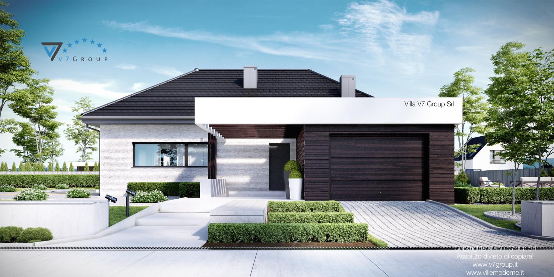 VM Immagine Villa V32 - vista frontale garage grande