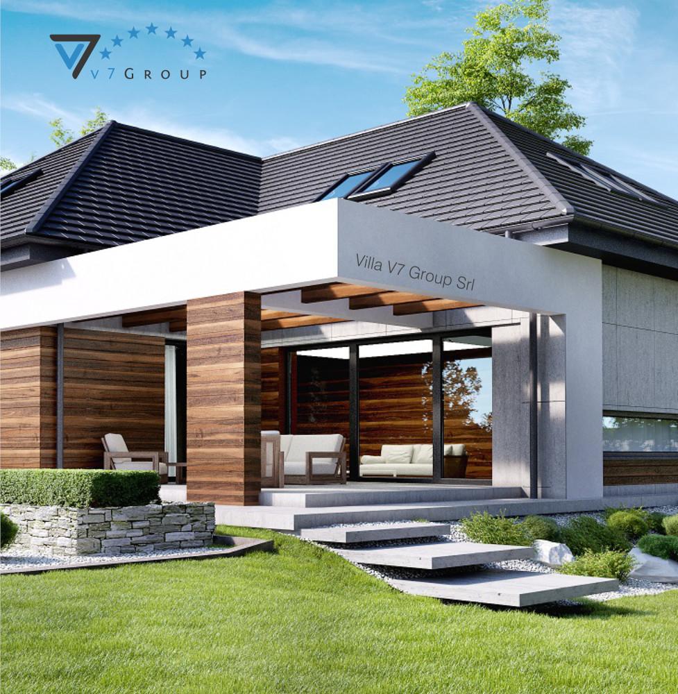 VM Immagine Villa V33 - parte del terrazzo esterno della villa piccola