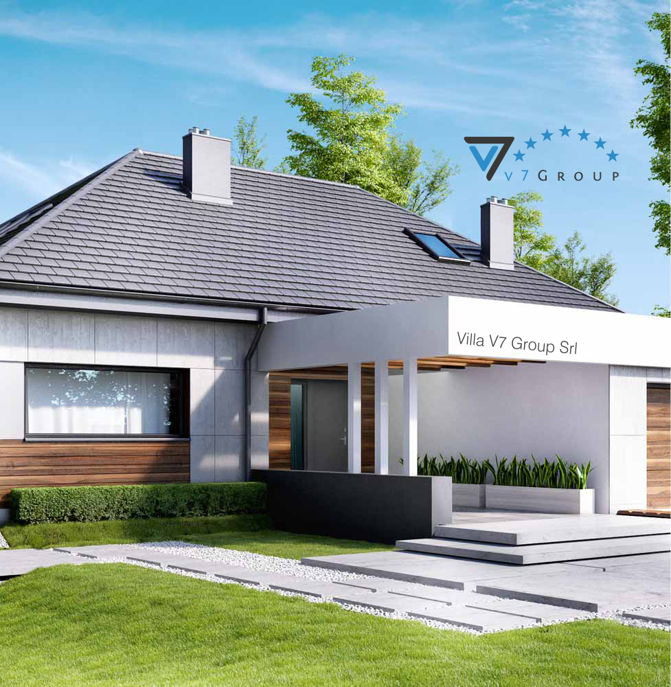 Villa v33 progetto originale la casa in stile moderno for Progetto casa piccola