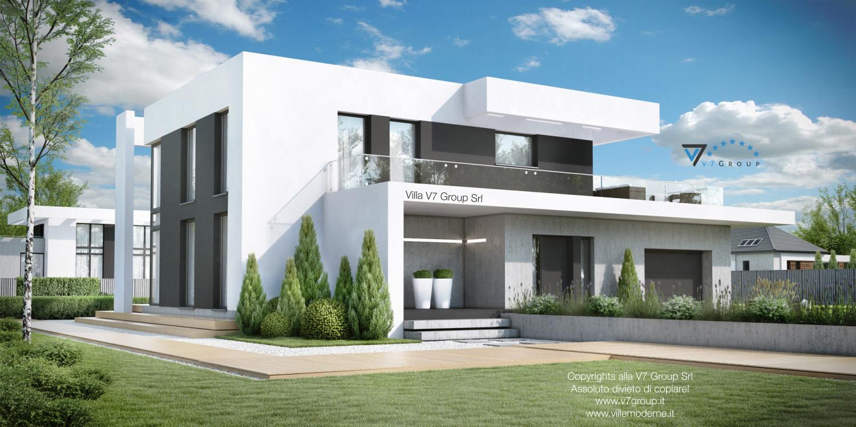 VM Immagine Villa V34 - vista frontale laterale grande
