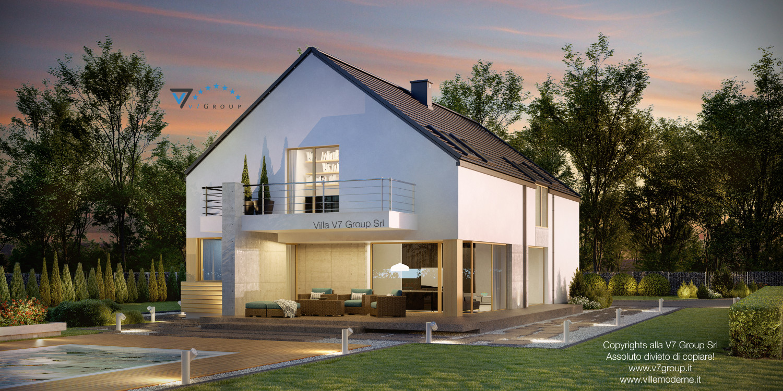 VM Immagine Villa V35 - vista giardino grande
