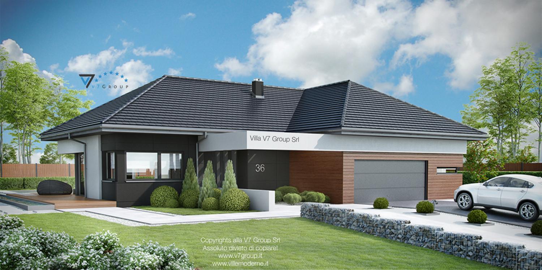 VM Immagine Villa V36 - vista frontale grande