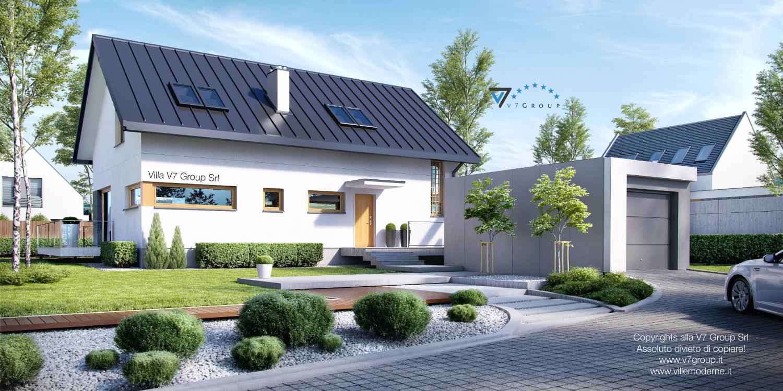 VM Immagine Villa V4 - vista frontale grande