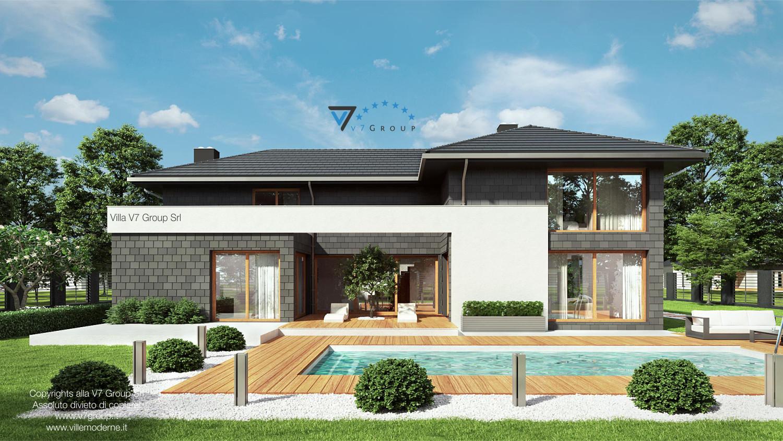 VM Immagine Villa V40 - vista piscina grande