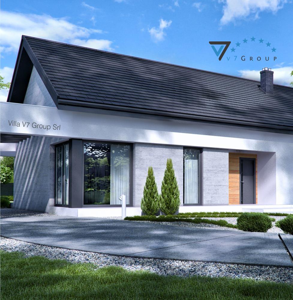 VM Immagine Villa V45 - la parte frontale della villa