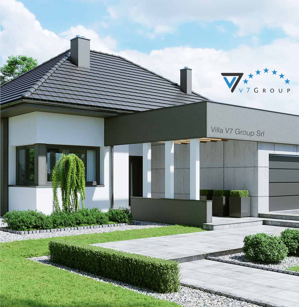 VM Immagine Villa V46 - la parte frontale della villa