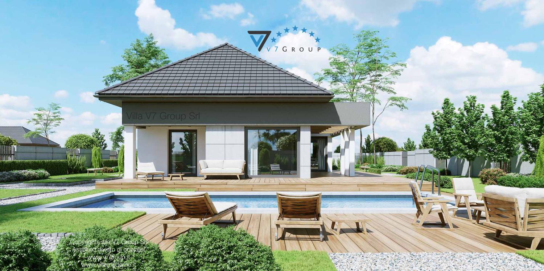 VM Immagine Villa V46 - vista giardino e piscina grande