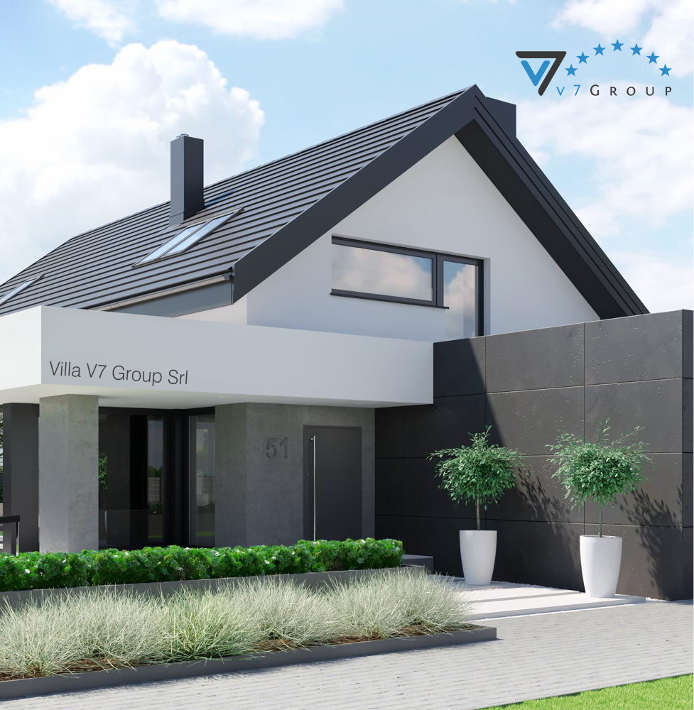 VM Immagine Villa V51 - la parte frontale della villa