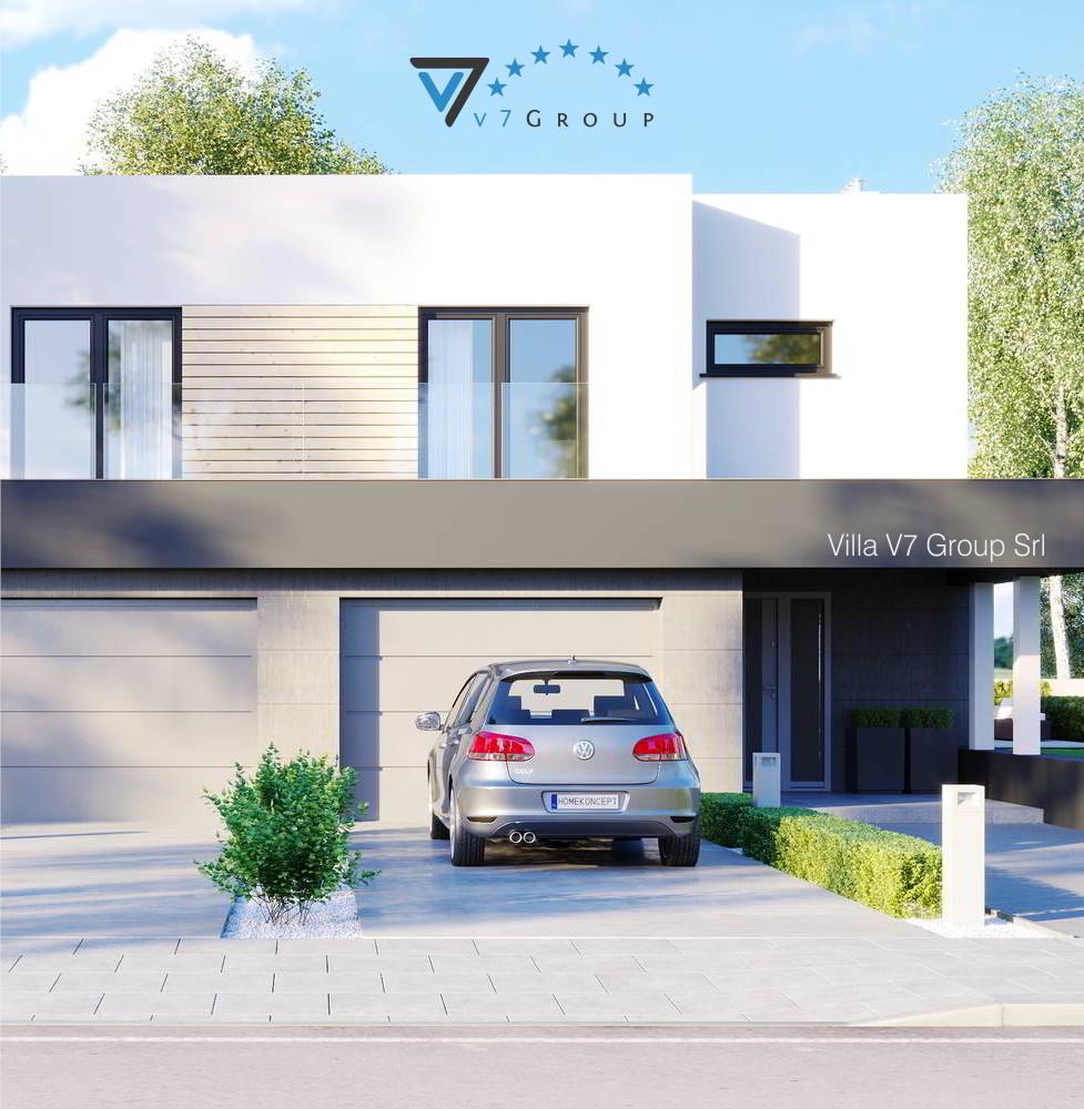 VM Immagine Villa V52 (D) - la parte frontale della villa