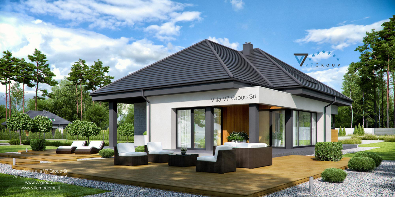 VM Immagine Villa V54 - vista giardino grande
