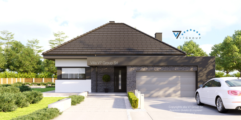VM Immagine Villa V55 (progetto originale) - vista frontale grande