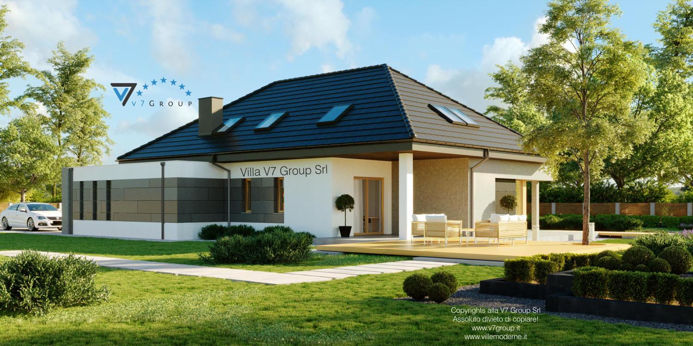 VM Immagine Villa V57 - vista giardino grande