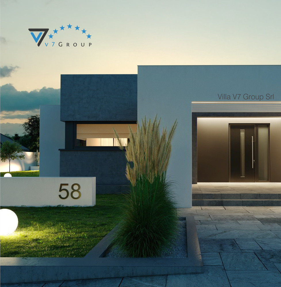 VM Immagine Villa V58 - la parte frontale della villa