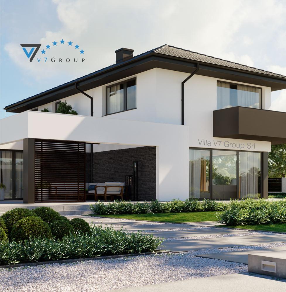 VM Immagine Villa V59 - la vista giardino della villa