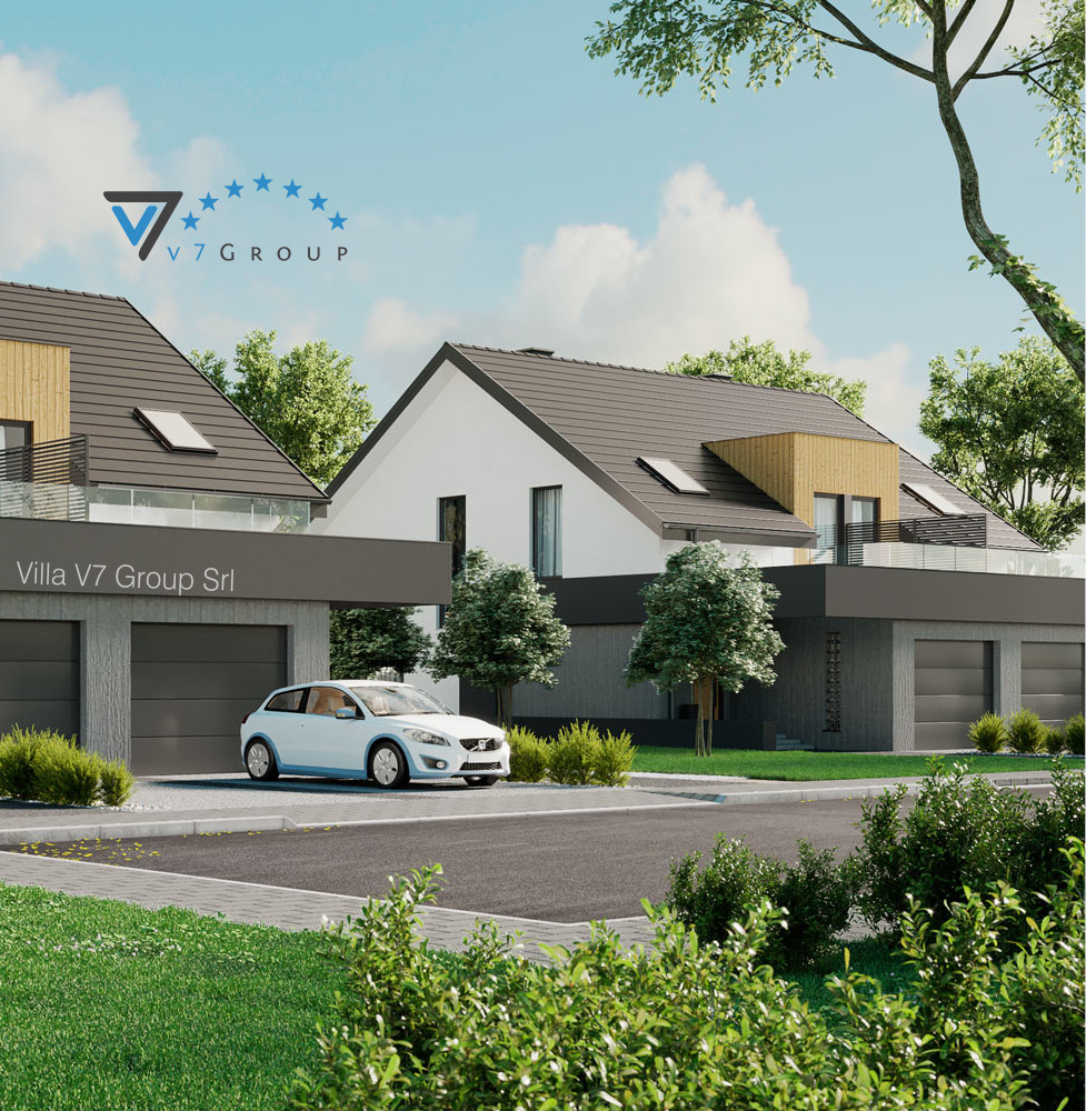 VM Immagine Villa V61 (B) - la parte frontale della villa