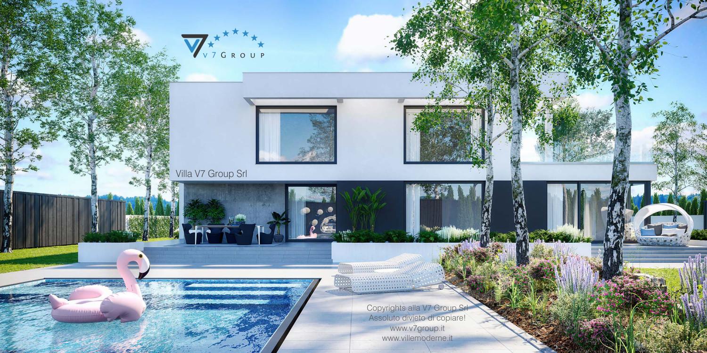 VM Immagine Villa V62 - vista piscina grande