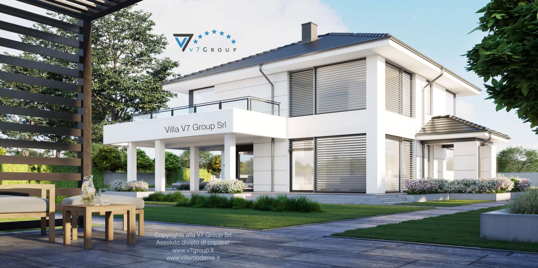 VM Immagine Villa V64 (progetto originale) - vista terrazzo esterno grande