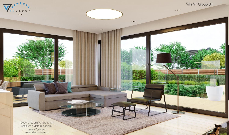 Immagine VM Villa V48 (progetto originale) - interno 1 - soggiorno grande