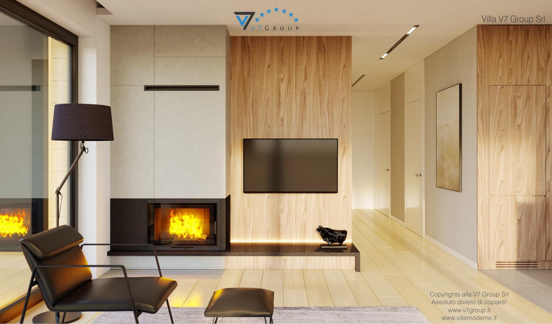 Immagine VM Villa V48 (progetto originale) - interno 2 - soggiorno e corridoio grande