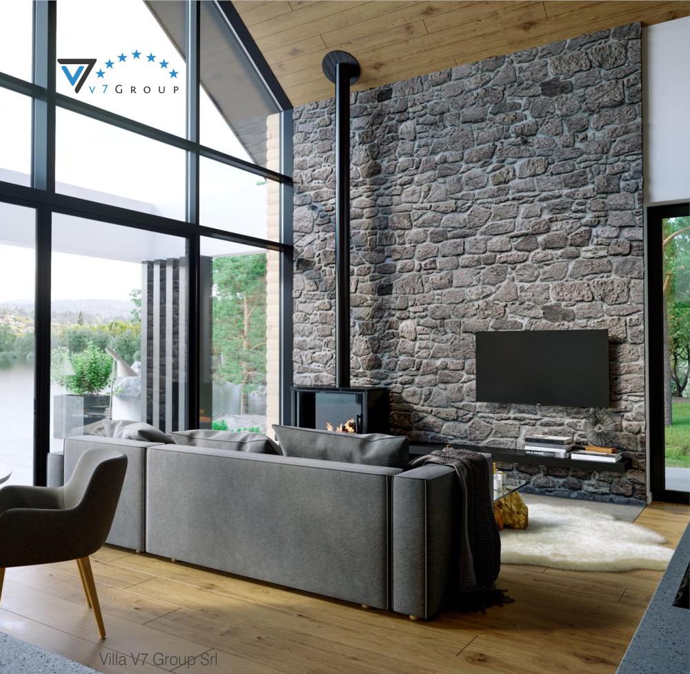 Immagine VM Villa V66 - interno 2 - il divano e la tv grande