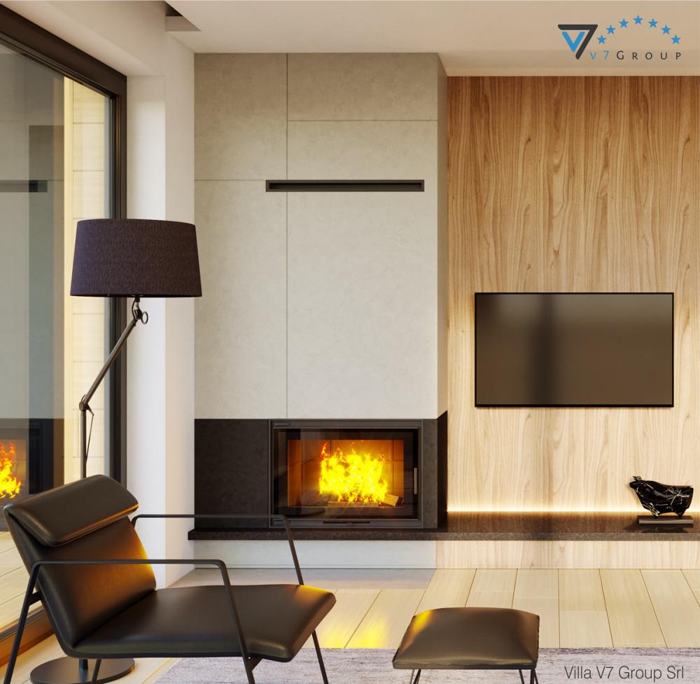 VM Immagine Villa V48 - camino nel soggiorno piccolo