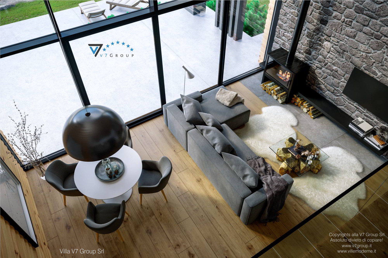 VM Immagine Villa V66 - interno 5 - vista soggiorno dall'alto grande