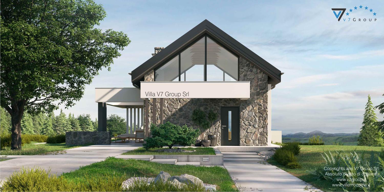 Immagine VM Villa V65 (progetto originale) - vista frontale della villa grande