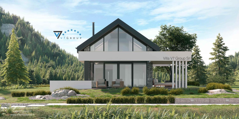 Immagine VM Villa V65 (progetto originale) - vista laterale del terrazzo esterno grande