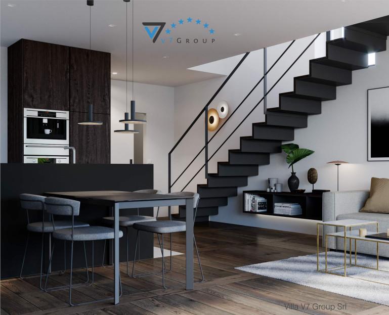 Immagine VM Villa V61 (D) - interno 2 - soggiorno e scale piccola