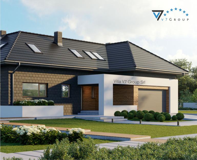 VM Immagine Villa V13 ENERGO - la parte frontale della villa