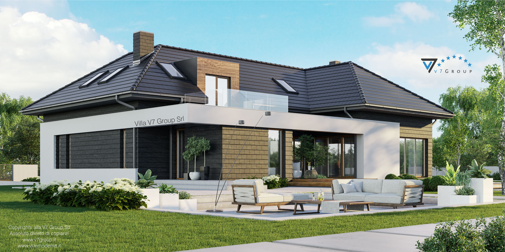 Immagine VM Villa V13 ENERGO - nowy - vista laterale