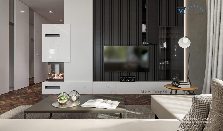 Immagine VM Villa V71 - interno 2 - camino e tv nel soggiorno grande