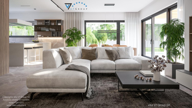 Immagine VM Villa V73 - interno 5 - il divano nel soggiorno grande