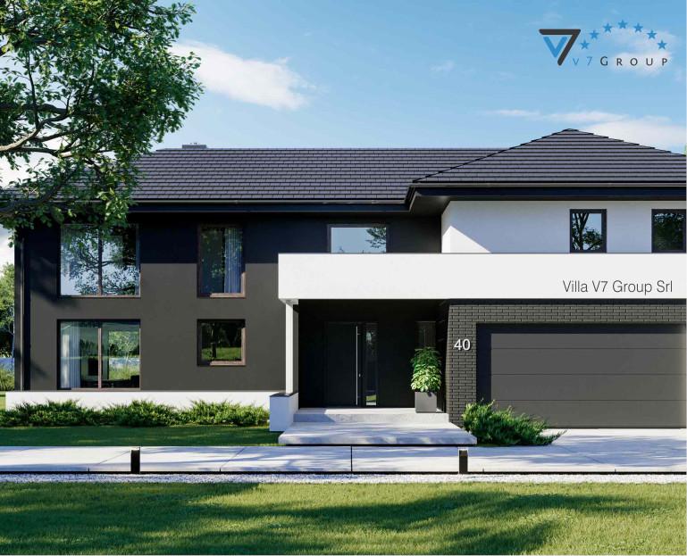 VM Immagine Villa V40 - la parte frontale della villa