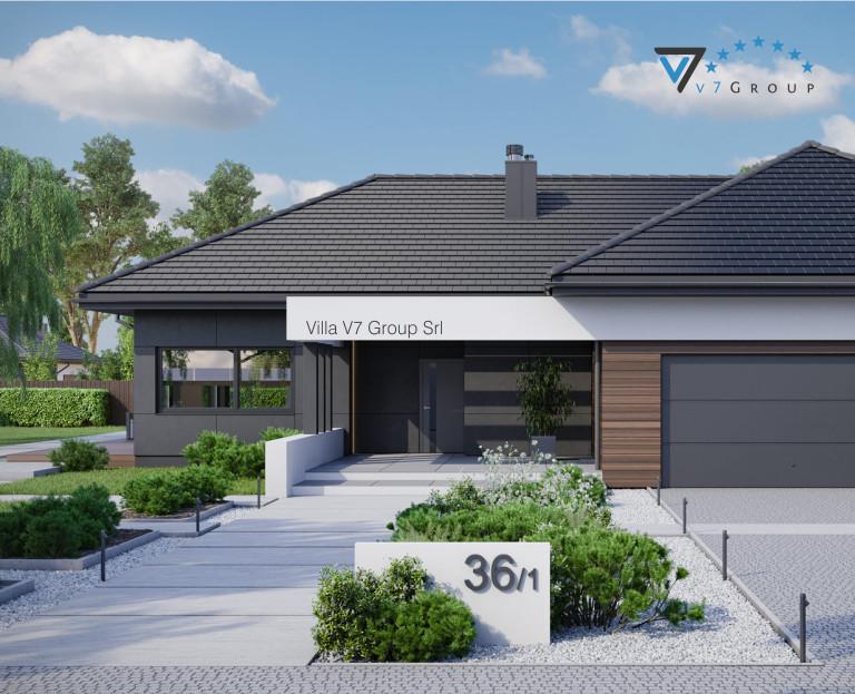 VM Immagine Villa V36 - Variante 1 - la parte frontale della villa