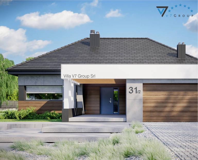 VM Immagine Villa V31- Variante 1 - la parte frontale della villa